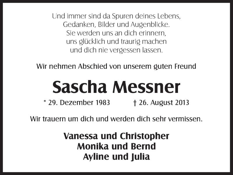 Anzeige von  Sascha Messner