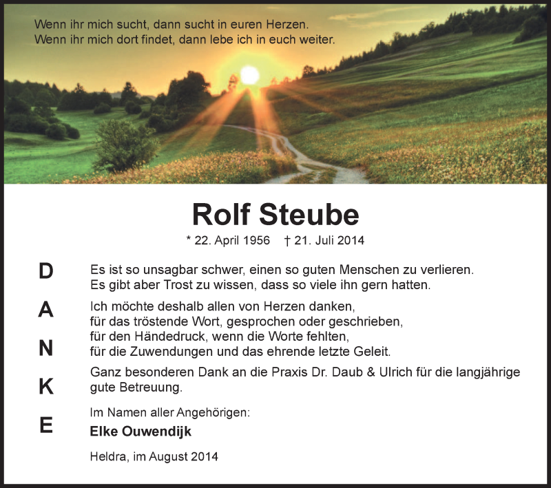Anzeige von  Rolf Steube