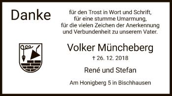 Traueranzeige für Volker Müncheberg vom 13.04.2019 aus Eschwege
