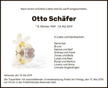 Traueranzeige für Otto Schäfer vom 13.05.2019 aus Eschwege