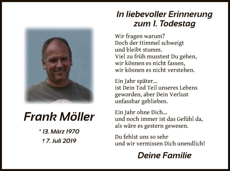 Anzeige von  Frank Möller