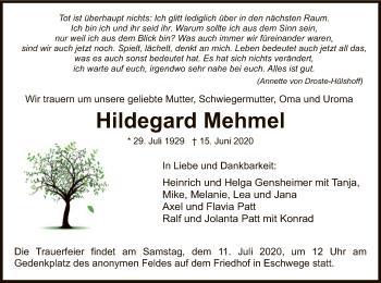 Hildegard Mehmel